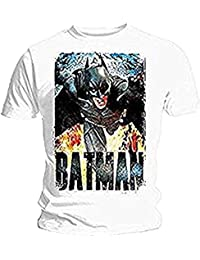 BATMAN DARK KNIGHT RISES - RUNNING FLAMES - OFFICIAL MENS T SHIRT