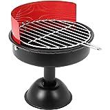 COM-FOUR® Lustiger Aschenbecher aus Metall für den Außenbereich in Mini Grill Design (1 Stück)