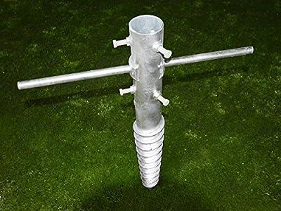 Bodenhülse XL bis Ø 65 mm / 80 cm, Schwerlast für Zaunpfosten, Sonnenschirm, Fahnenmast, Wäschespinne uvm. von Zaun-Nagel - Du und dein Garten