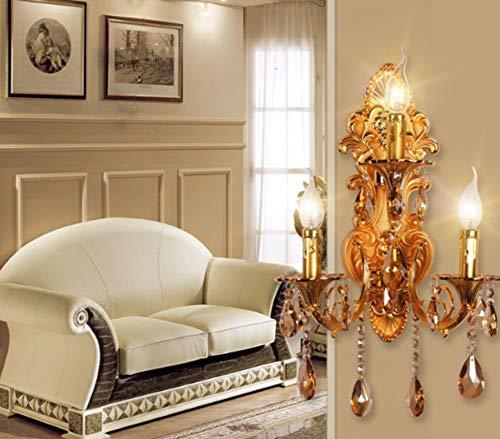 xiadsk Mode 3 Lichter kristall Wandleuchte Kerze doppelte Skateboard Wandleuchte Wohnzimmer Wandleuchte treppe Gold Moderne kristall Wandleuchte Wandleuchte