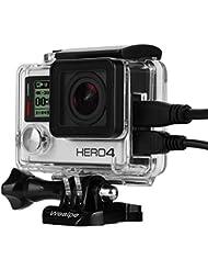 Wealpe Boîtier Ajouré Skeleton Housing Coque Ouverte avec LCD Touch Porte Arrière pour GoPro Hero 4, 3+, 3 Caméras