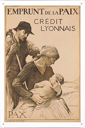 world-war-i-one-tin-sign-metal-poster-reproduction-of-emprunt-de-la-paix-crdit-lyonnais