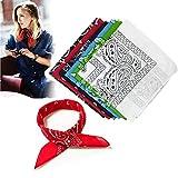 Ealicere 6 Stück Bandana Kopftuch Halstuch Baumwolle Cashew Muster für Damen20.5 * 20.5inch