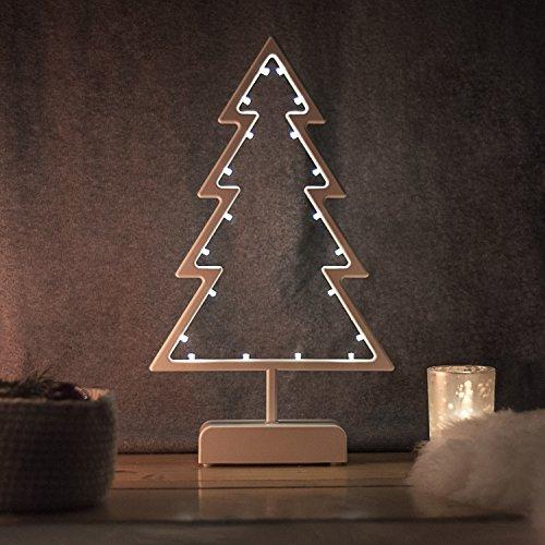 SnowEra Decorazione Natalizia |Lampada Decorativa a Forma di Albero di Natale in...