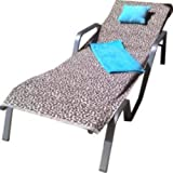 Leopard sun lounger towel, drying towel and pillow