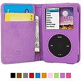 iPod Classic Hülle (Lila), SnuggTM - Flip Case mit lebenslanger Garantie + Kartenfächern & Standfunktion