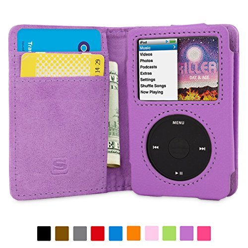 snugg-ipod-classic-case-flip-cover-lifetime-guarantee-purple-leather-for-apple-ipod-classic