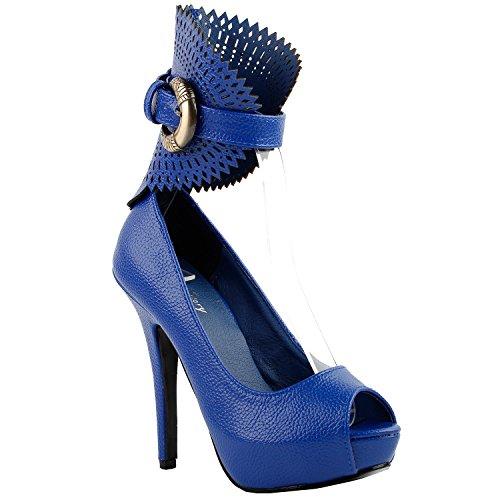 Show Story , Peep-Toe femme Medium blue