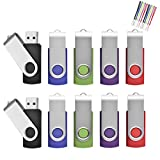 16 Go Lot de 10 Pivotant Clés USB 2.0 Stockage Carte Mémoire Flash Drive Rotation...