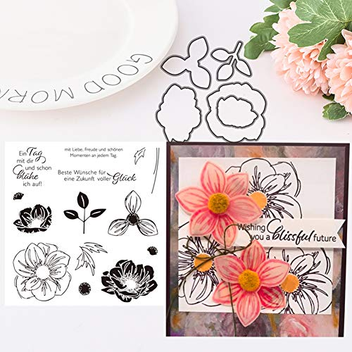 TankMR Metall Stanzformen, Prägeschablone Vorlage für DIY Scrapbook Album Papier Karte Kunsthandwerk Dekoration, handgemachte Blume Briefmarke