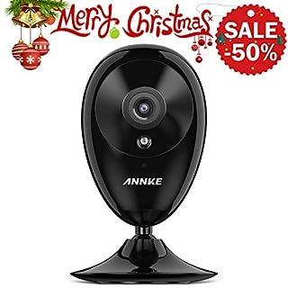 ANNKE IP Kamera Kompatibel mit Amazon Alexa,1080P HD Home WiFi Sicherheit Überwachungs kamera,Wi-Fi Indoor Überwachungskameras mit 2-Wege-Audio,Haustier,Baby-Monitor, Nachtsicht, Bewegungserkennung