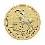 "2 oz Australien 2015 Lunar Serie II ""Year of the Goat"" (Ziege) - 2 Unzen 999,9 Goldmünze"