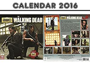 THE WALKING DEAD OFFICIAL CALENDRIER CALENDAR 2016 + THE WALKING DEAD AIMANT DE RÉFRIGÉRATEUR