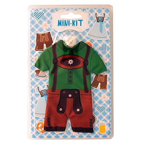 Preisvergleich Produktbild Mini Lederhosen mit Saugnapf - grün - 17 cm X 14 cm