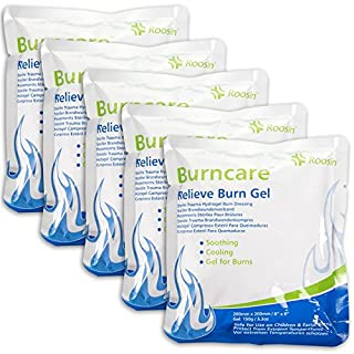 5x Fast Relief Burn Gel Dressings | Sterile Hydrogel