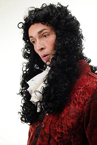 Party//Fancy Dress//Halloween WIG men women unisex BLACK baroque LORD JUDGE prince duke aristocrat PIRATE Dick Turpin PW0173-P103