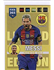 Panini Adrenalyn XL FIFA 365 2017 Lionel Messi Premium tarjeta de comercio de oro