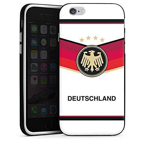 Apple iPhone X Silikon Hülle Case Schutzhülle fussball fußball deutschland Silikon Case schwarz / weiß