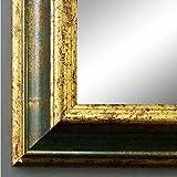 Online Galerie Bingold Spiegel Wandspiegel Badspiegel Flurspiegel Garderobenspiegel - Über 200 Größen - Bari Grün Gold 4,2 - Größe des Spiegelglases 80 x 140 - Wunschmaße auf Anfrage - Antik, Barock