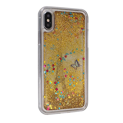 Quicksand Silicone Case Glitter iPhone Morbido Bling 13 Sabbie Cristallo Trasparente Protettiva Custodia Apple Morbido mood® Moon Back X Paillette Seq iPhone colore TPU Liquido Gel Mobili per en X Bumper Cover wqgqFUE