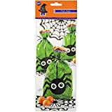 Wilton Scary Good Treats Party Bag Bonbon Geschenk Tüten Spider Spinne Skull (Spider Grün)