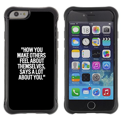 Graphic4You Answer Promptly With A Smile Englisch Zitat Nachricht Shockproof Anti-Rutsch Weichen Hülle Case Tasche Schutzhülle für Apple iPhone 6 Plus / 6S Plus Design #18