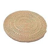 woyao13deng Sedia Imbottita per Il Pavimento per sentirsi Comoda, Pieghevole e universalmente applicabile, Cuscino Naturale Resistente all'erba, Filato di Paglia Fatto a Mano
