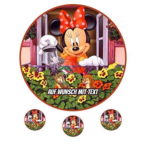 tstag Tortenbild Zuckerbild Oblate Motiv: Disney Minnie Maus 15 (Zuckerpapier) ()