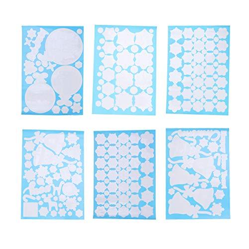 achten Fenster klemmt Aufkleber Wand Aufkleber Schaufenster Weihnachten Urlaub Winter Dekorationen Ornamente Party Supplies ()