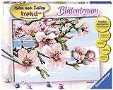 Ravensburger 28892 - Blütentraum - Malen nach Zahlen Trend, 40 x 30 cm