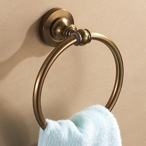 Nopea Antiken Handtuchhalter Handtuchring Wandhandtuchhalter Wandmontage Rund Handtuchhalter Retro Handtuch Ring Handtuch Halter Badzubehör Messing (Halter Handtuch Ring)