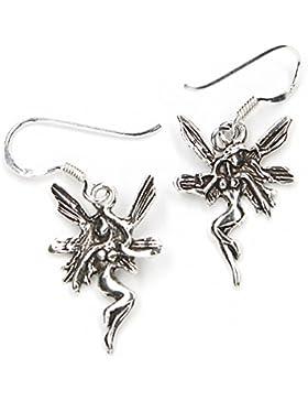 Elfen Ohrhänger Ohrringe 925 Silber Schmuck, Länge mit Hänger: 3,5cm Ohrschmuck Elfe
