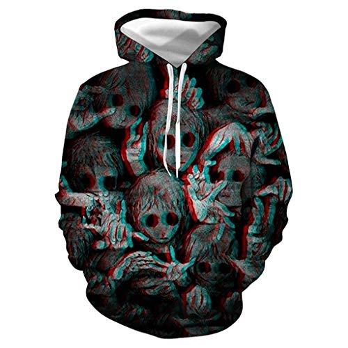 Paare Themen S Kostüm Für - 2018 Neue Männer & Frauen Hoodies Paare Casual Halloween-Thema 3D Print Hoodie Hip Hop Herbst Winter Sweatshirts Hoody Trainingsanzüge