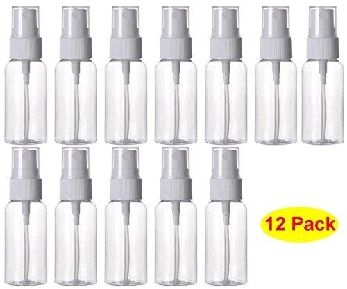1 Unze Parfum Spray (hosl 1Unze nachfüllbar Fine Mist Spray Flasche Parfüm Spritze Flasche Kosmetik ZERSTÄUBERN Pet Spray Flaschen Pumpe 12Stück)