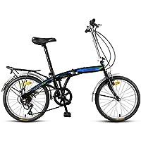 Bicicleta plegable de bicicleta para adultos, con mini 7 velocidades, bicicleta de 20 pulgadas