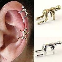 Arpoador 1X Unisex Earring Climbing Man Type No Piercing Cartilage Clip Ear Cuff(Bronze)