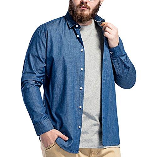Dooxii Hombre Verano Manga Larga Tamaño Grande Camisa