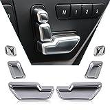 beler 6pcs Auto Innenraum Tür Sitz Einsteller Knopf Schalter Abdeckung Trim