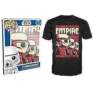 Funko-Camiseta de 184-Pop Tees, Star Wars-Póster de Stormtrooper, tamaño XL