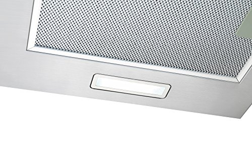 516fSvtM1gL - Cookology CGL600SS Designer Extractor | 60cm Curved Glass Chimney Cooker Hood in Stainless Steel