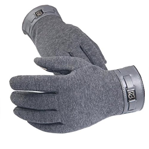 Krallen Handschuhe Motorrad Mit (WINWINTOM Winter-Männer volle Finger-Telefon Touch Screen Cashmere Handschuhe Fäustlinge)