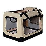 dibea hondentransportbox hondentas opvouwbare autobox kleine dieren tas (grootte en kleur naar keuze), TB10042, (L) 70x52x50 cm, beige