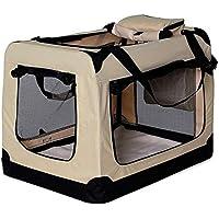dibea TB10042 - Bolsa de Transporte para Perros y Gatos, color Beige, Talla L, 70x52x50 cm