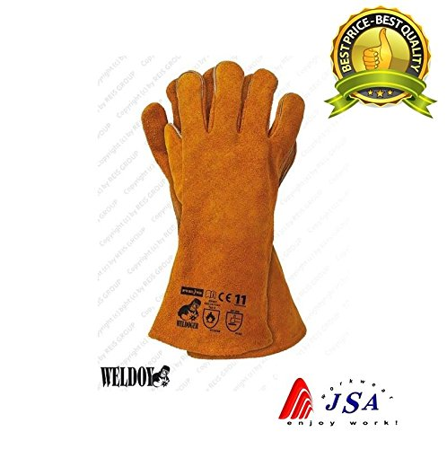 Schweißen Handschuhe Hohe Temperatur Herd Lange gefüttert Schweißer Handschuhe Log Fire, Kevlar -