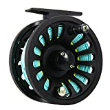 Lintimes Fly Reel 5/6 wt con Fly Line Weight forward wf-6 F con saldati loop backing Line taper leader Tippet Combo set, blue&yellow