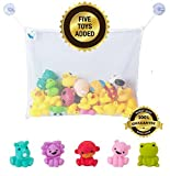 Bath Toy Organizer + 2 Extra Strong Hook...