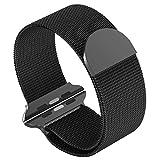 Armband für SmartWatch 42mm, MCD Milanese Loop Edelstahl Replacement Wrist Strap Band Uhrenarmband mit Einzigartige Magnet-Verschluss für iWatch 42mm Series 3 / Series 2 / Series 1 [No Buckle benötigt] - Schwarz