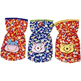 GURU KRIPA BABY PRODUCTS ® Presents New Born Baby Feeding Bottle Cover Cotton Fabric Flower Print Printed Bottle Cover Baby Bottle Cover Set Feeder Cover New Born Baby Fancy Bottle Cover Feeder Cover Nursing Cover Pack of 3 Pcs. (125ml, Red)