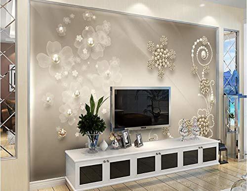 YSDECOR Benutzerdefinierte Tapete Hochwertige Europäische Perle Silk Hintergrund Wohnzimmer Schlafzimmer Tv Hintergrund Fototapete 3D Tapete