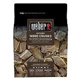 Weber Räucherchips Wood Chunks Holzstücke Hickory, braun, 17,8 x 8,9 x 30,5 cm, 17619